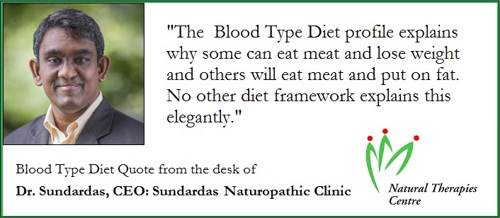 blood-type-diet-quote