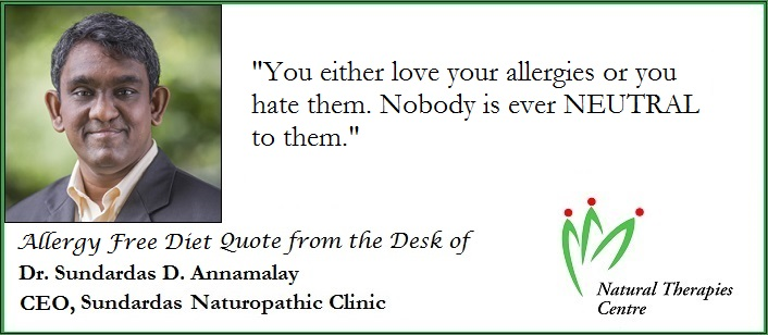 allergy-free-diet-quote